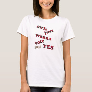 Girls Vote Yes Scottish Independence T-Shirt