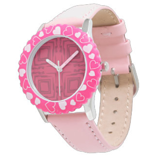 Girls Watch With Pink See The Forest Abstract Art