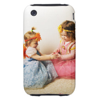 Girls wearing fairy costumes indoors tough iPhone 3 cover