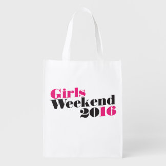 Girls weekend 2016 vacation reusable grocery bag