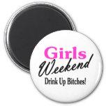 Girls Weekend 6 Cm Round Magnet