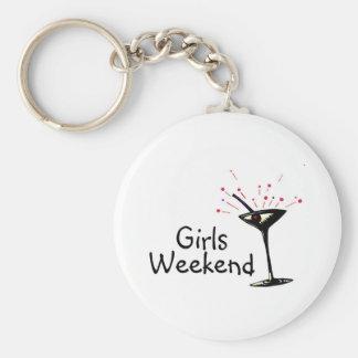 Girls Weekend Basic Round Button Key Ring