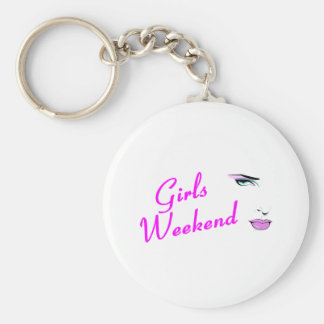 Girls Weekend (Face) Basic Round Button Key Ring