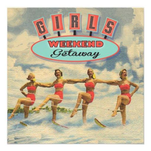 Girls Weekend Getaway Invitations