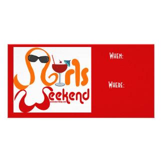 Girls Weekend Invitation Customised Photo Card