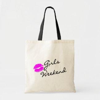 Girls Weekend (Kiss Blk) Budget Tote Bag