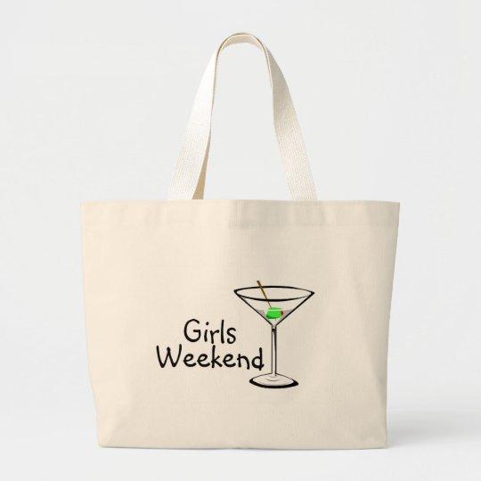 Girls Weekend Martini Large Tote Bag