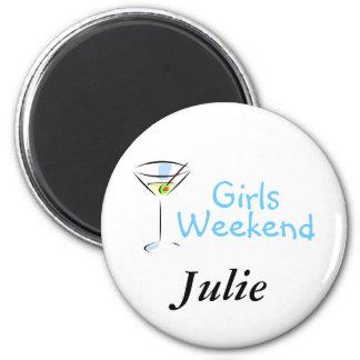 Girls Weekend Martini Refrigerator Magnet