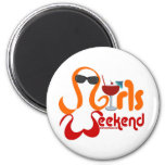 Girls Weekend Party 6 Cm Round Magnet