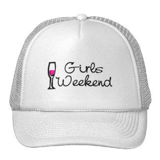 Girls Weekend Wine Trucker Hats