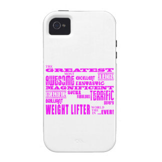 Girls Weight Lifters : Pink Greatest Weight Lifter iPhone 4 Cover