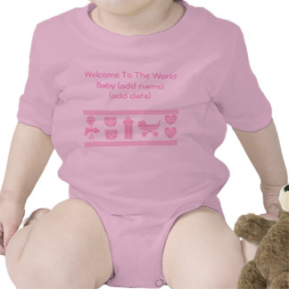 Girls Welcome to the World Save The Date Crawler T-shirts