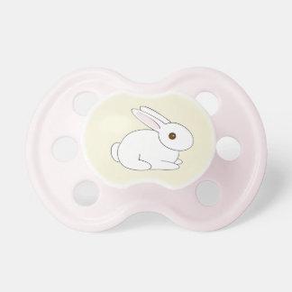Girls' White Bunny Pacifier