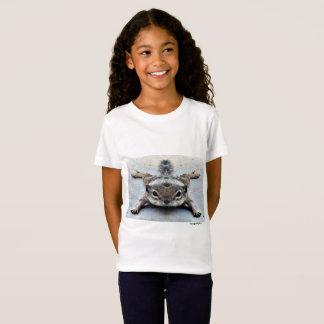 Girl's White Short Sleeve Tee Shirt