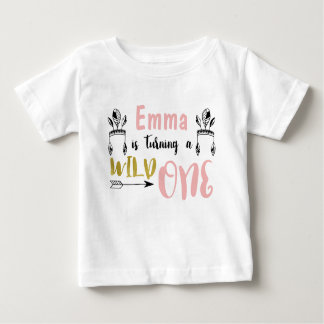 Girls Wild One 1st Birthday Shirt