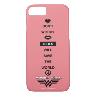 Girls Will Save The World Wonder Woman Graphic iPhone 8/7 Case