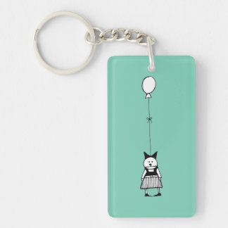 Girls With Balloons Key Ring