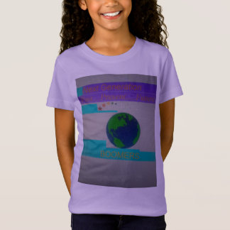 Girls Youth Tee Lilac with MultiColor Logo NGB