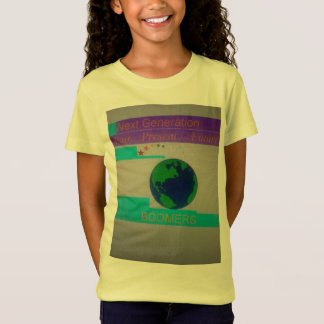 Girls Youth Tee Yellow with MultiColor Logo Design