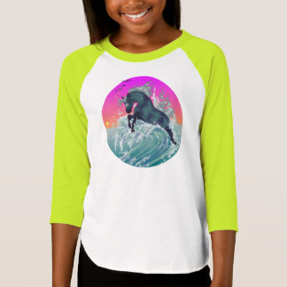 "Girl's Youth Unicorn Shirt ""Medium"" in Neon Yellow"