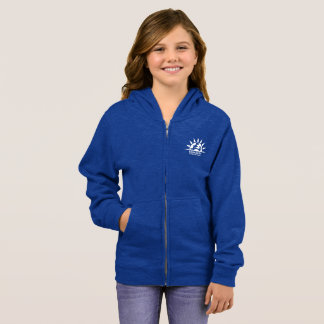 Girl's Zip Hoodie Heather Blue