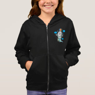 Girl's zip hoodie with cool seal
