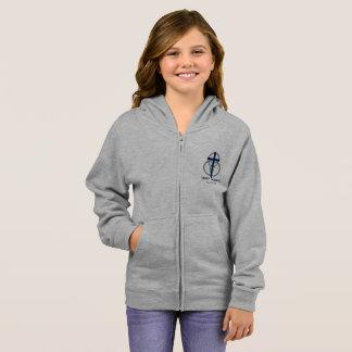 Girl's Zip-up: Traditional Logo Hoodie