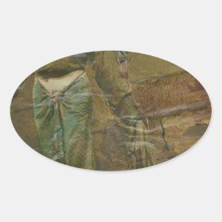 girlsnake.jpg oval sticker