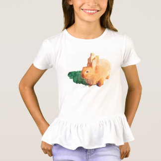 "Girls's ""EASTER BUNNY"" Ruffles T-shirt"