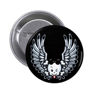 Girlwing 6 Cm Round Badge