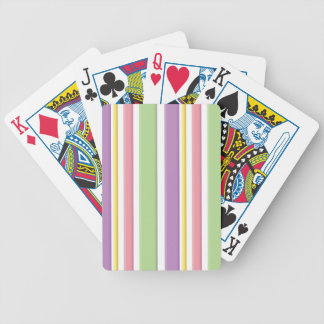 Girly 3D Stripey Pattern Bicycle Playing Cards