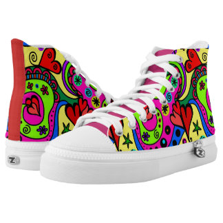 Girly Abstract High Tops