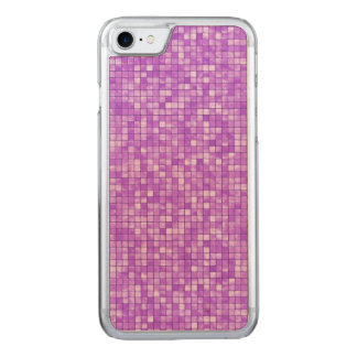 Girly Amethyst Geometric Textured Tile Pattern Carved iPhone 7 Case