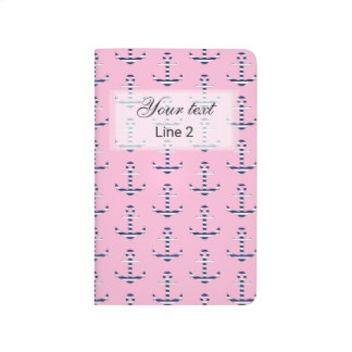 Girly anchor pattern journal