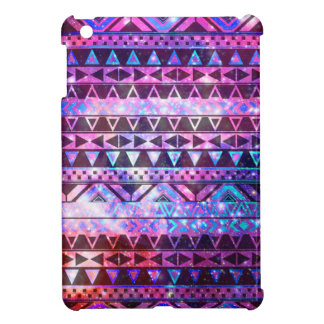 Girly Andes Aztec Pattern Pink Teal Nebula Galaxy iPad Mini Cover