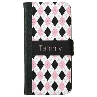 Girly Argyle Custom iPhone 6 Wallet Case