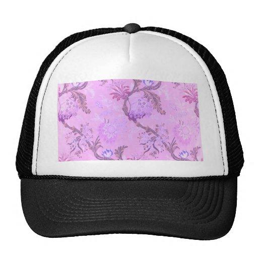 Girly asian silk pink feminine pattern textile trucker hat
