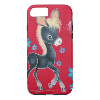 Girly Baby Donkey With Flowers iPhone 7 Case