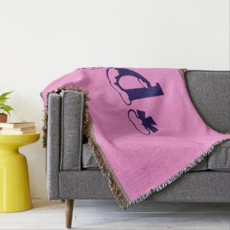 Girly Baby Pink Monogram Pattern Design Text Art
