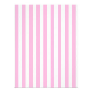 Girly Baby Pink Solid Stripes Pattern 21.5 Cm X 28 Cm Flyer