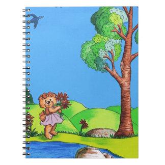 Girly Bear Spiral Notebook