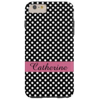 Girly Black & White Polka Dot iPhone 6 Plus case