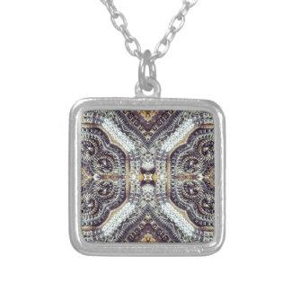 girly bling vintage grey Gold Exotic Medallion Pendant