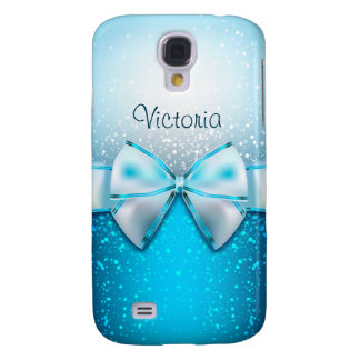 Girly Blue Glitter Holiday Galaxy 4 Case