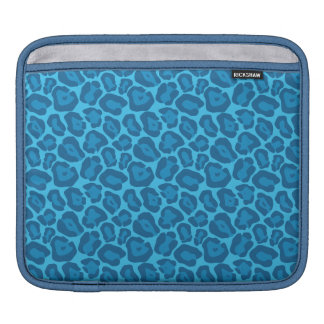 Girly Blue Leopard Pattern Ipad Case