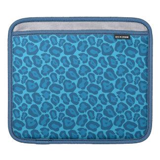 Girly Blue Leopard Pattern Ipad Case iPad Sleeves