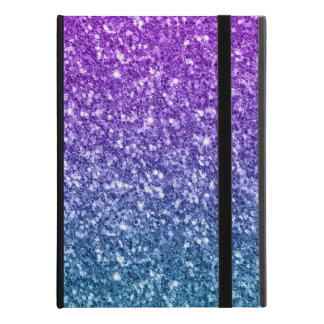 "Girly Blue & Purple Glitter Print iPad Pro 9.7"" Case"