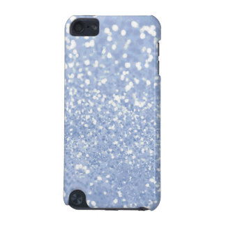 Girly Blue White Abstract Glitter Photo Print iPod Touch (5th Generation) Case