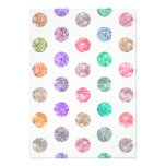 Girly Bright Mod Glitter Polka Dots Chic Pattern Custom Invite
