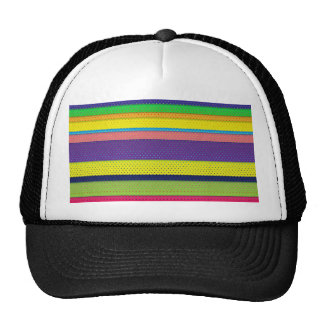Girly Bright Polka Dot Stripes Trucker Hat